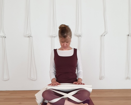 Pranayama Atemübung – Yoga-Übung im Studio für Iyengar Yoga und Meditation, Neustadt