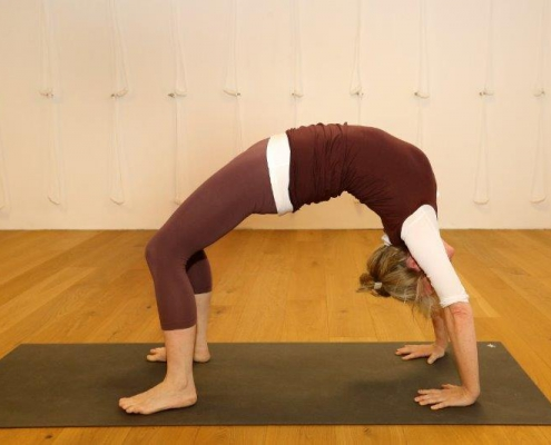"""Rad"" – Yoga-Übung im Studio für Iyengar Yoga und Meditation, Neustadt"